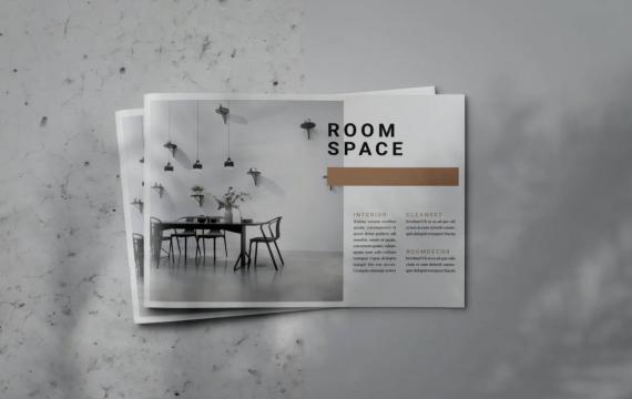 房间空间-Indesign Lookbook宣传册模板