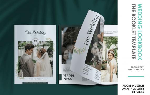 新娘和婚纱摄影杂志模板