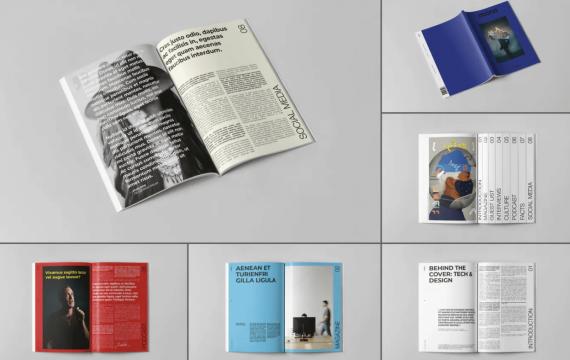 多用途书杂志模板下载
