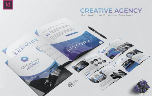 商业代理宣传手册 InDesign模板