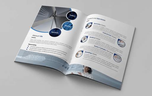 Foldpro-A4双折页小册子宣传手册模板