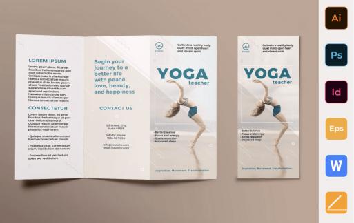 瑜伽教练手册三析页模板