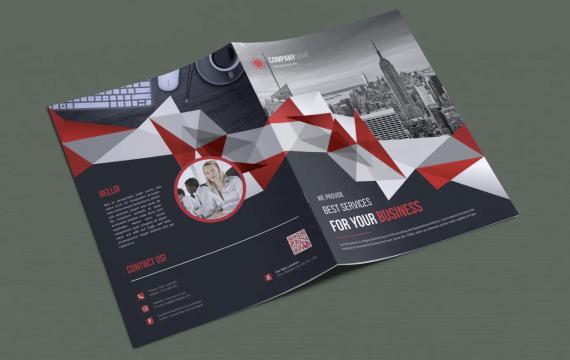 双折页小册子企业宣传手册模板