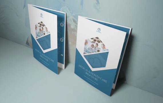 医疗保健宣传手册双析页模板