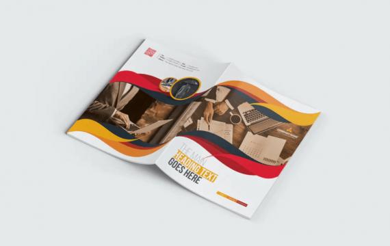 企业简介双折页小册子宣传手册模板
