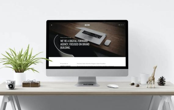 Belton –最小的HTML5黑白多用途网页模板