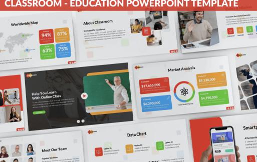 教室-教育PowerPoint模板