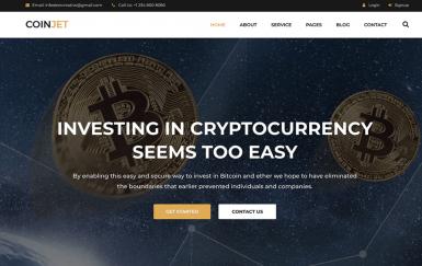 CoinJet | 比特币和加密货币网页HTML模板