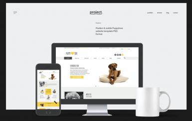 Puppylove-创意网页PSD模板