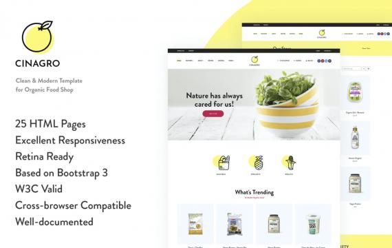 Cinagro-有机食品商店网页HTML模板