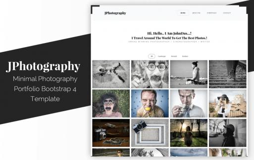 JPhotography-最小摄影作品集HTML5网页模板