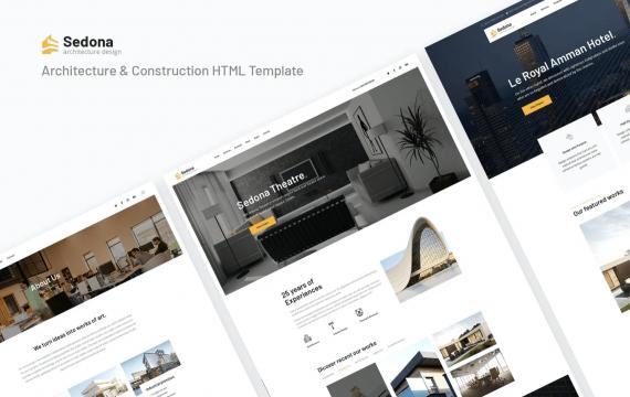 塞多纳| 建筑与施工网页响应式HTML模板