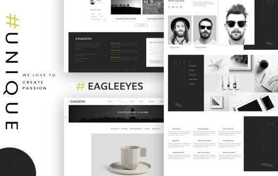EAGLEEYES-广告多页和自适应网页HTML5模板