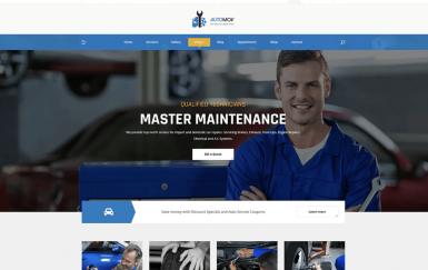 Automov-汽车维修,汽车服务PSD 网页模板