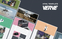 Verve-代理商和投资组合网页HTML模板