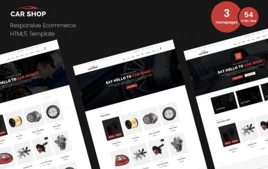 汽车商店-电子商务网页HTML模板