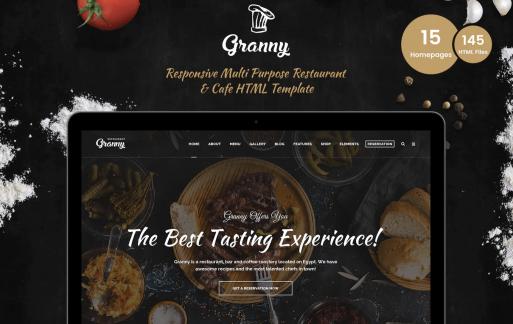 优雅的餐厅和咖啡厅网页HTML模板