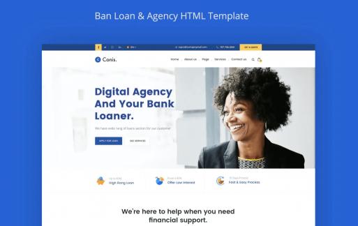 Conis-商业和金融网站前端HTML模板