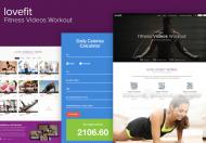 Lovefit-健身视频培训网站html模板