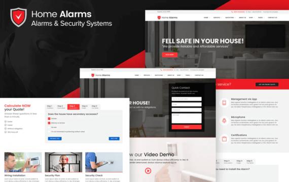 家庭警报-警报和安全系统网站前端html模板