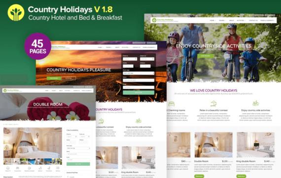 CountryHolidays-乡村酒店和住宿加早餐旅馆网站html模板