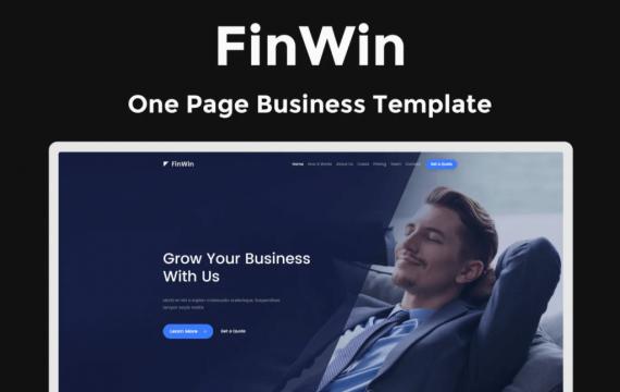 FinWin-一页企业财务网站html模板