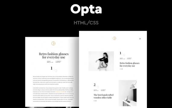 Opta-最小的作品集和摄影网页html模板