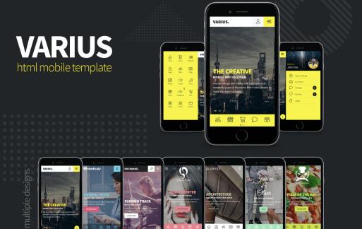 Varius-网站HTML移动模板