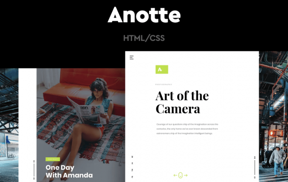 Anotte-水平摄影自适应网页HTML模板