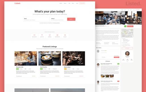 目录和列表HTML网站模板