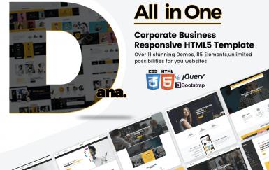 Dana-多功能响应式网站HTML5前端模板