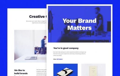 Blunes —最小的HTML投资组合个人作品集网站模板