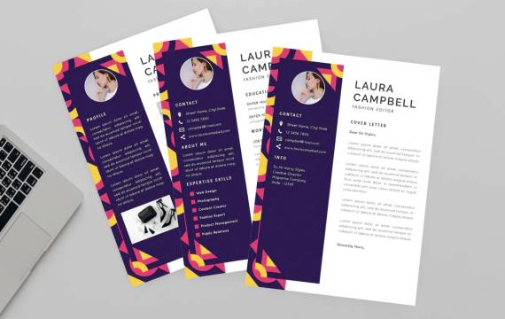 劳拉(Laura)时尚设计师简历个人简介履历表简历模板