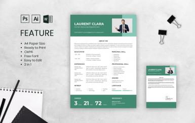 个人简历绿色求职面试履历表简历模板