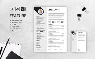 个人简历简洁求职面试履历表简历模板