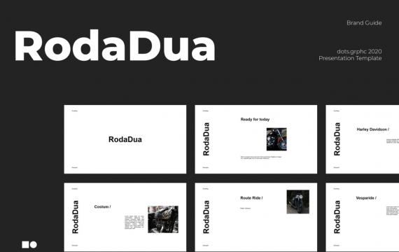 RodaDua-Powerpoint简约免费模板