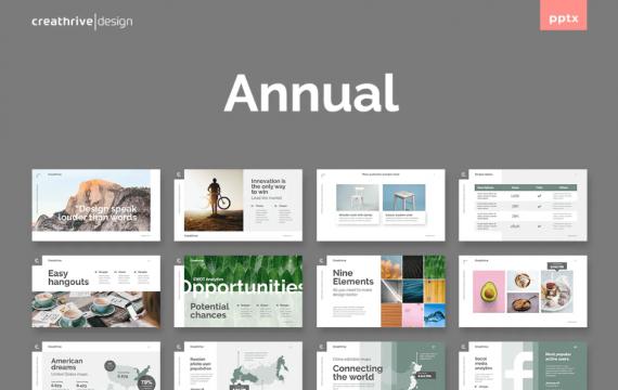 年度总结绿色PowerPoint模板