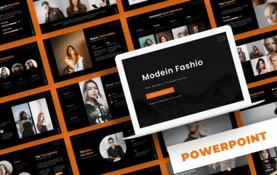 Modein Fashio-PowerPoint模板