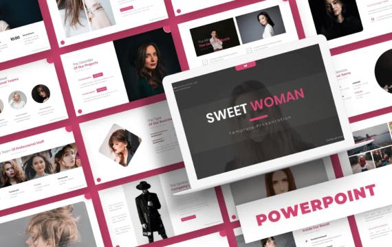 甜蜜的女人-PowerPoint模板
