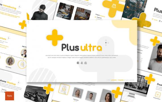 Plus Ultra-黄色Powerpoint模板