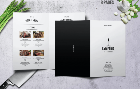 Symetria简单样式A4菜单