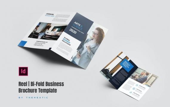 卷盘| 双向业务宣传册模板双折页下载
