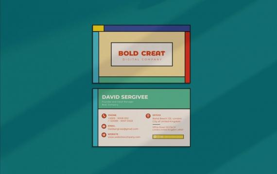 大胆的创意名片设计模板下载