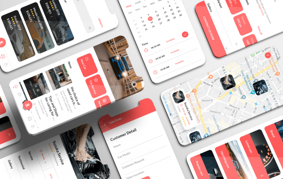 Autoverso UI Kit-汽车预订应用程序 app模板素材下载
