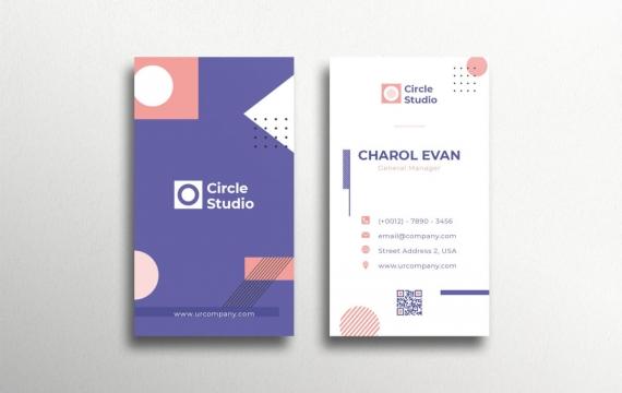 创意图形设计名片模板下载