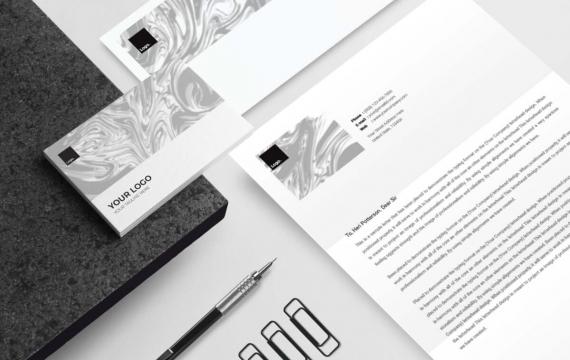 Micheal Bean-文具套装vi设计模板下载