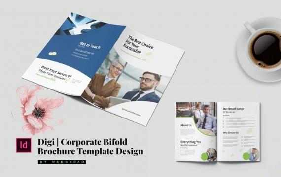 Digi | 企业双重宣传册模板设计