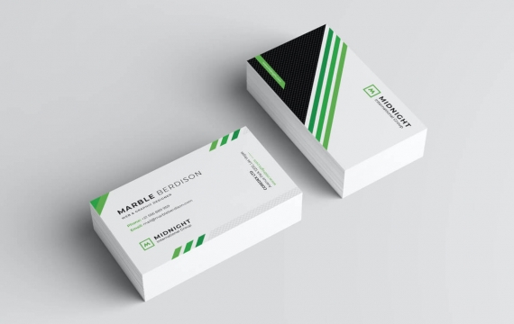 白色商务名片设计模板下载