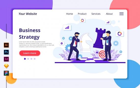 Agnytemp-业务策略图v2网站banner图模板素材