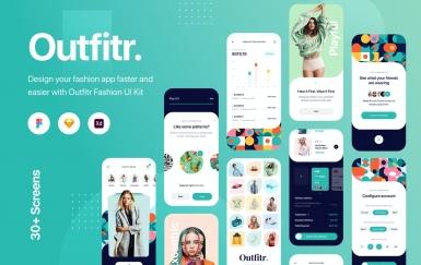 Outfitr-时尚UI套件 app模板素材下载